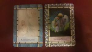 """Die Karten die ich benutze heißen """"Das Heil -Orakel der Engel."""" Copright by Doreen Virtue, Allegria Verlag"""